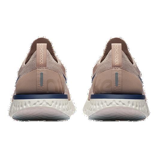 Nike Men's Epic React Flyknit Running Shoes TaupeBlueGrey