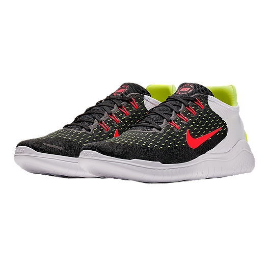 e094a1e0d20f Nike Men s Free RN 2018 Running Shoes - Black Red White