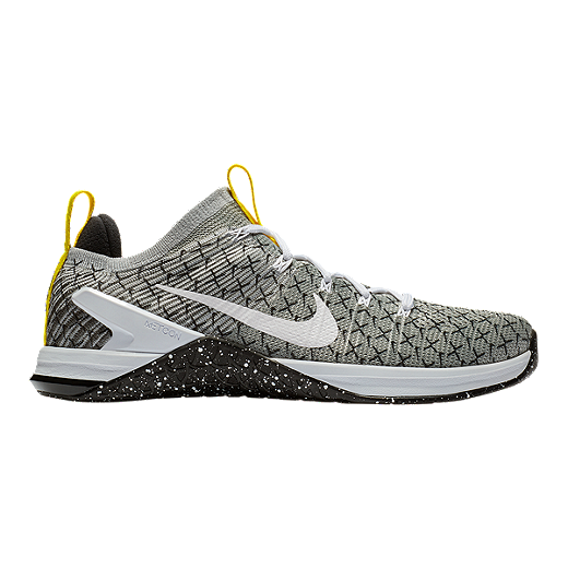 13bd38e41f5e Nike Men s Metcon Dsx Flyknit Jdq Training Shoes Black White Yellow by  Sport Chek