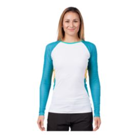 Level Six Women's Venus Long Sleeve Rash Guard - White