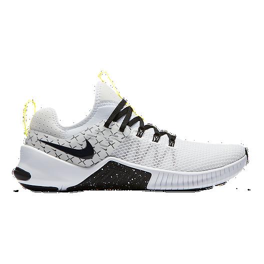 e3da7cb07ea29 Nike Men s Metcon Free X Training Shoes - White Black Yellow