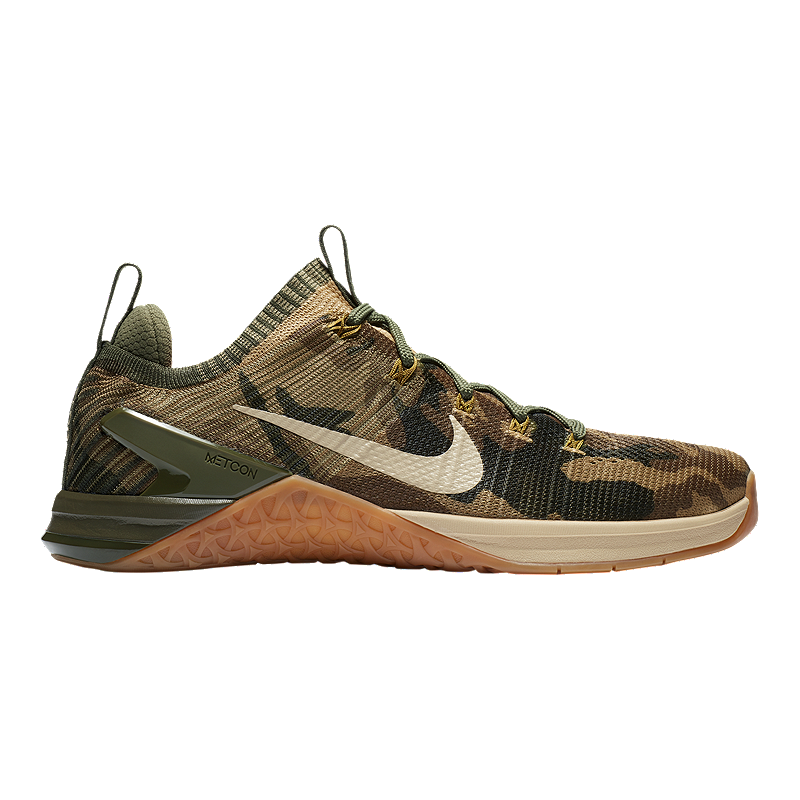 ab83090b4d46 Nike Men s Metcon DSX Flyknit 2 Training Shoes - Camo Olive Silver Grey