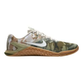 Nike Men's Metcon 4 Training Shoes - Camo Olive/White/Brown