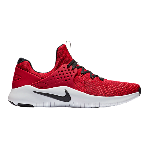 best service 47ce6 1ed41 ... coupon code nike mens free tr v8 training shoes red black white  university red 90363 3d46b