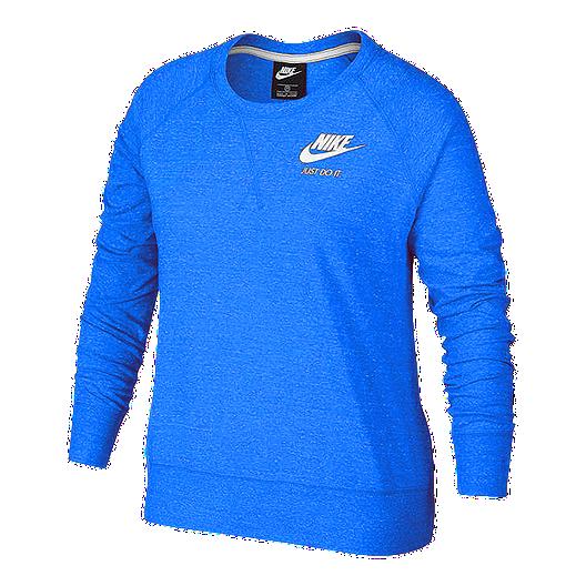Gym Sweatshirt Vintage Nike Sportswear Plus Size Crew