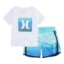 Hurley Baby Ombre Icon T Shirt & Short Set