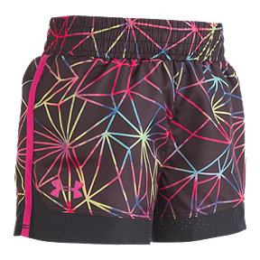 Under Armour Girls' 4-6X Poly Prism Sprint Woven Shorts