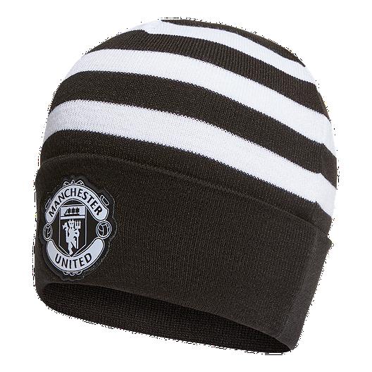 premium selection ba86b 38b26 adidas Manchester United 3 Stripes Woolie Beanie   Sport Chek