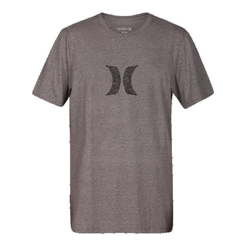 fbd96732b1e2 Hurley Men s Icon Push Through T Shirt - Dark Grey