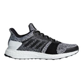 adidas Men's Ultra Boost ST Running Shoes - White/Black/Black