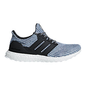 adidas Men's Ultra Boost Parley Running Shoes - White/Grey/Blue
