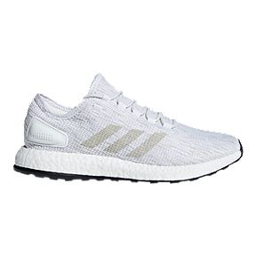 detailed look 88e13 1cedf adidas Mens Pure Boost Running Shoes - WhiteGreyWhite