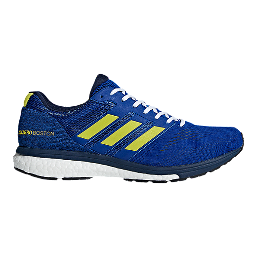 975f29a93 adidas Men s Adizero Boston 7 Running Shoes - Blue Yellow Navy - COLLEGIATE  ROYAL