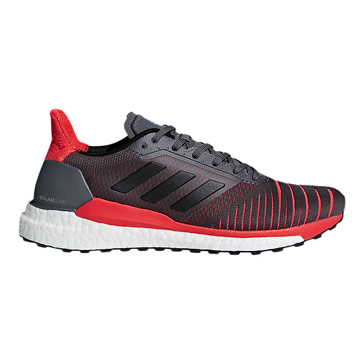 c6e68c2d8f30b adidas Men s Solar Glide Running Shoes - Grey Black Red