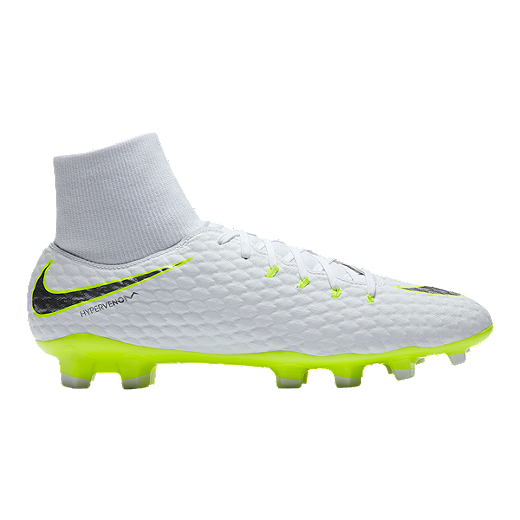 64198b87baa Nike Men s Hypervenom Phantom 3 Academy Dynamic Fit FG Outdoor Soccer Cleats  - White Grey