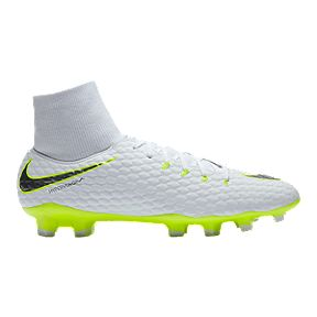 cd0619b1e53 Nike Men s Hypervenom Phantom 3 Academy Dynamic Fit FG Outdoor Soccer Cleats  - White Grey