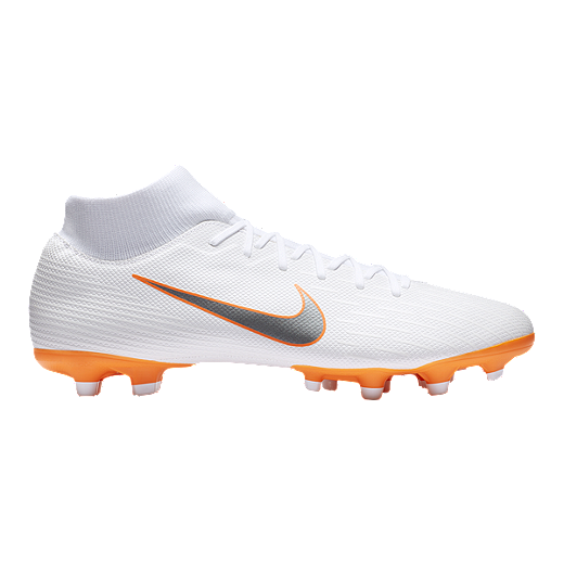 finest selection b36e8 5368b Nike Men's Mercurial Superfly 6 Academy MG Outdoor Soccer Cleats -  White/Grey/Orange