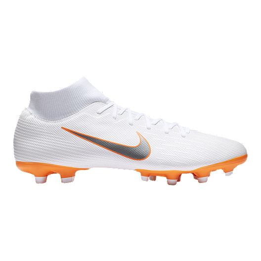 a2061549c Nike Men s Mercurial Superfly 6 Academy MG Outdoors Soccer Cleats - White  Grey Orange