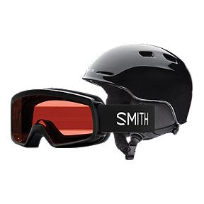 8ac87bf209 Smith Zoom Junior Ski   Snowboard Helmet Combo with Zoom Goggles - Black