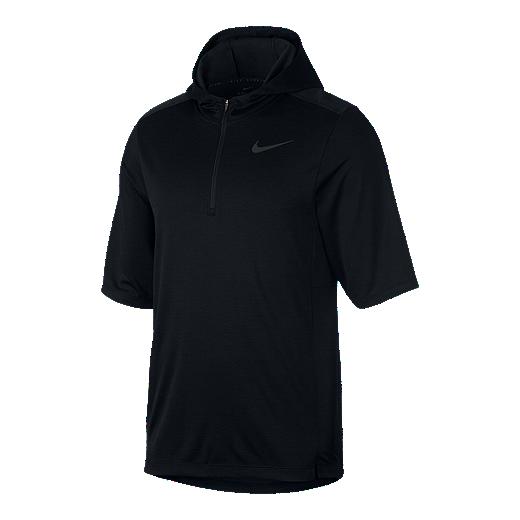 6407a2205 Nike Men s Pacer 1 2 Zip Short Sleeve Hoodie - BLACK REFLECTIVE BLACK