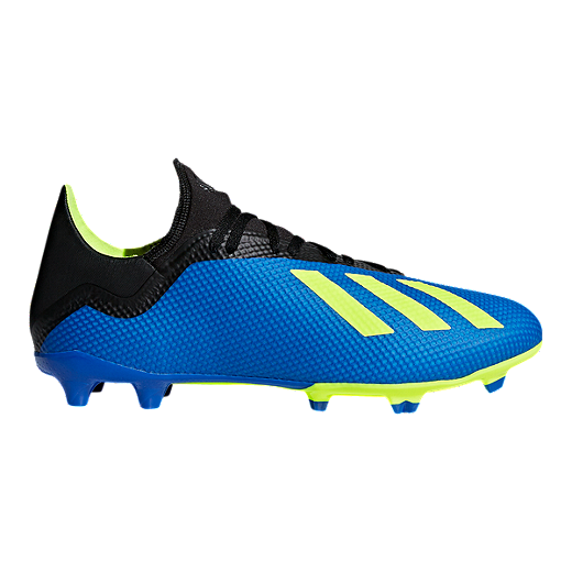 3fcf1815d adidas Men s X 18.3 FG Outdoor Soccer Shoes - Blue Yellow Black - FOOTBALL