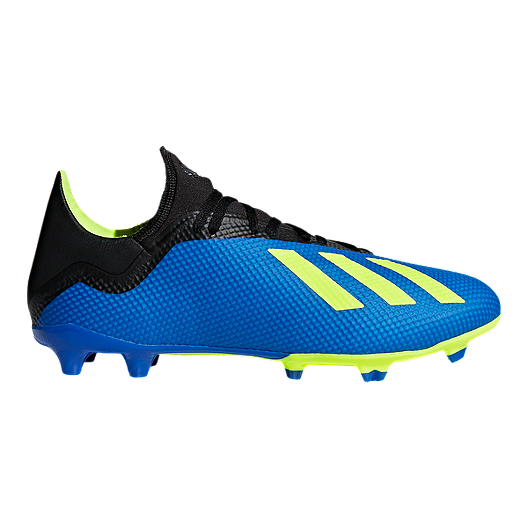 e51235f23a3 adidas Men s X 18.3 FG Outdoor Soccer Shoes - Blue Yellow Black ...