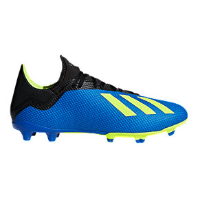 adidas Men's X 18.3 FG Outdoor Soccer Shoes - Blue/Yellow/Black