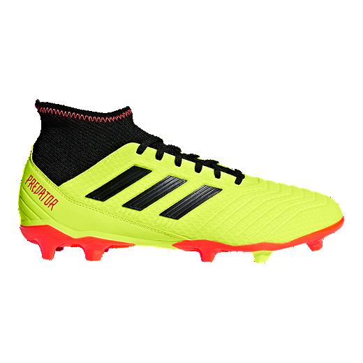 d59fd66d3 adidas Men's Predator 18.3 FG Outdoor Soccer Shoes - Yellow/Black/Orange -  SOLAR