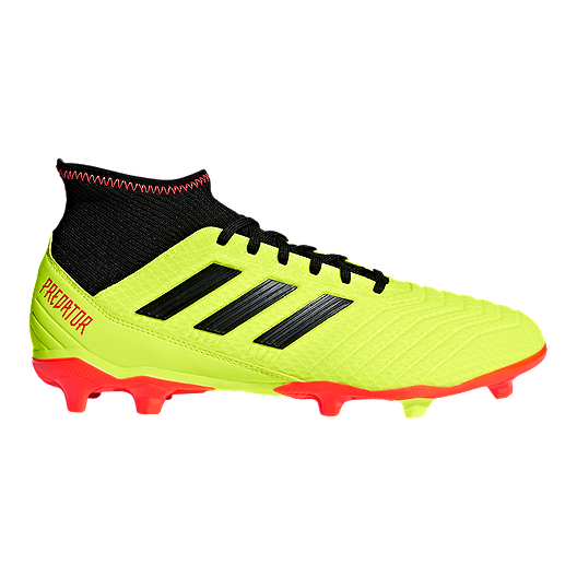 13211a098 adidas Men s Predator 18.3 FG Outdoor Soccer Shoes - Yellow Black Orange