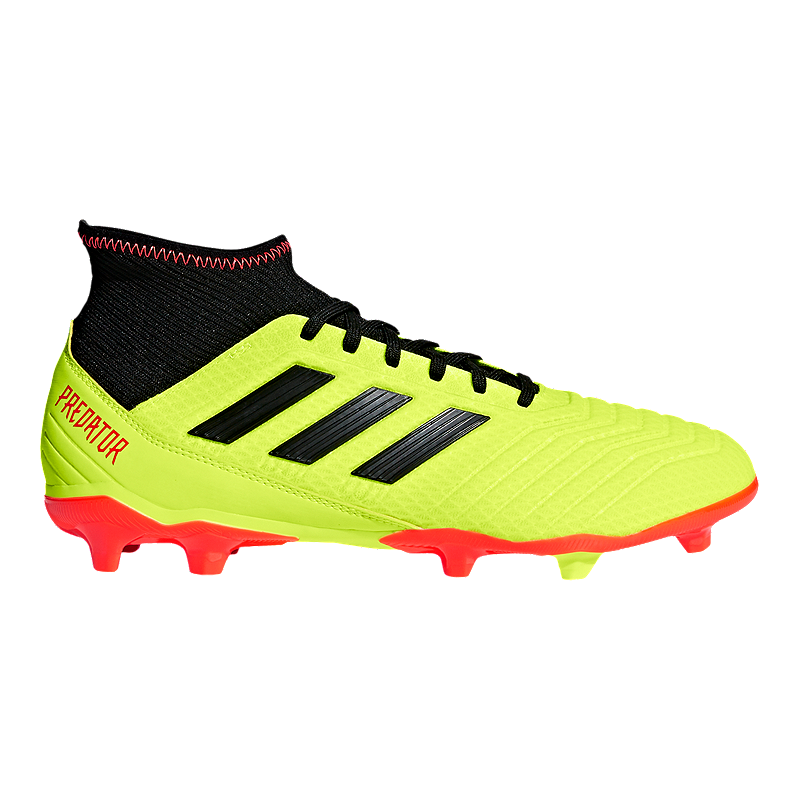 fb1716168 adidas Men s Predator 18.3 FG Outdoor Soccer Shoes - Yellow Black Orange