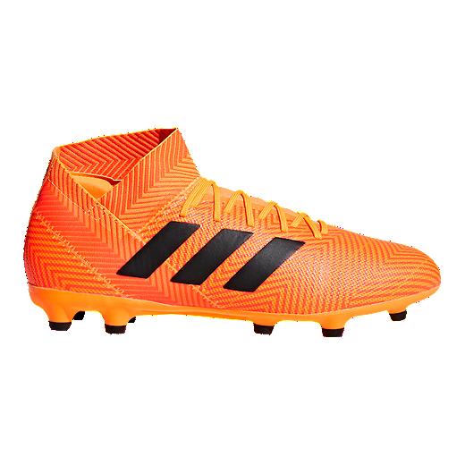 07a831a53f2 adidas Men s Nemeziz 18.3 FG Outdoor Soccer Cleats - Orange Black -  ZEST CORE