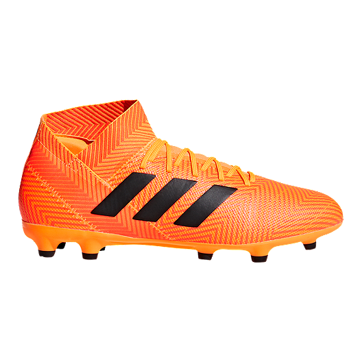 14d91875867f adidas Men s Nemeziz 18.3 FG Outdoor Soccer Cleats - Orange Black ...
