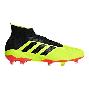 new arrival 4cf4c d328c adidas Mens Predator 18.1 FG Outdoor Soccer Shoes - YellowBlackOrange