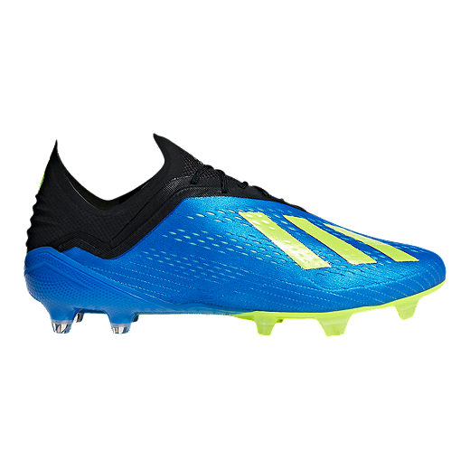 d3b437128 adidas Men s X 18.1 FG Outdoor Soccer Cleats - Blue Yellow - FOOTBALL BLUE