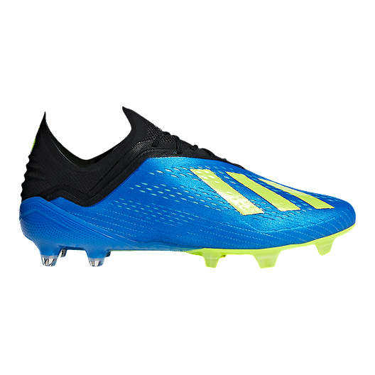 a4b16aa7435c adidas Men s X 18.1 FG Outdoor Soccer Cleats - Blue Yellow
