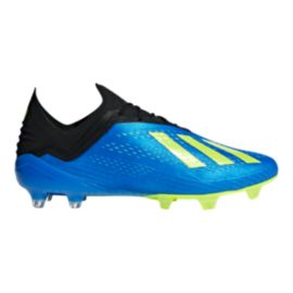 adidas Men's X 18.1 FG Outdoor Soccer Cleats - Blue/Yellow