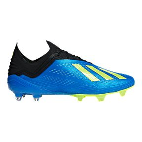 49314ff1a5e adidas Men s X 18.1 FG Outdoor Soccer Cleats - Blue Yellow