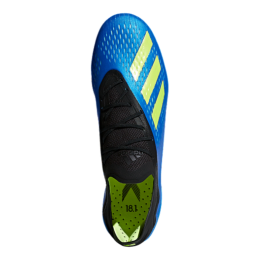 4474fd483 adidas Men s X 18.1 FG Outdoor Soccer Cleats - Blue Yellow. (0). View  Description