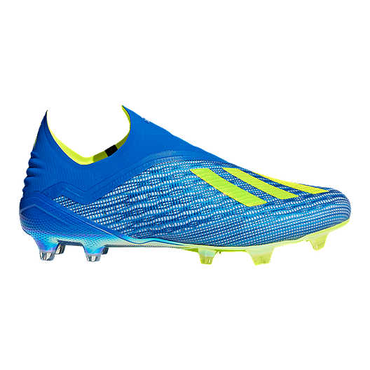 b42135df9f1 adidas Men s X 18+ FG Outdoor Soccer Cleats - Blue Yellow