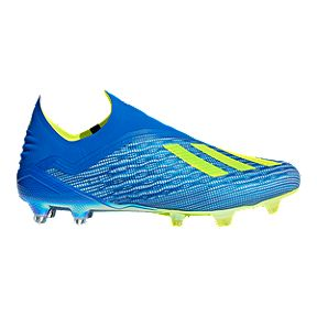 half off 4af75 500d1 adidas Men s X 18+ FG Outdoor Soccer Cleats - Blue Yellow