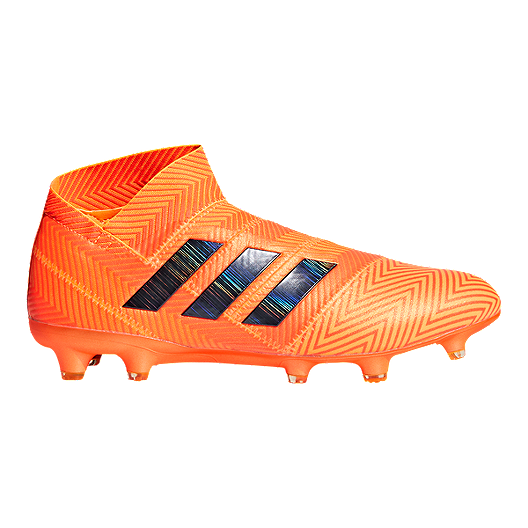 9f3730a6b594 adidas Men s Nemeziz 18+ FG Outdoor Soccer Cleats - Orange Black ...