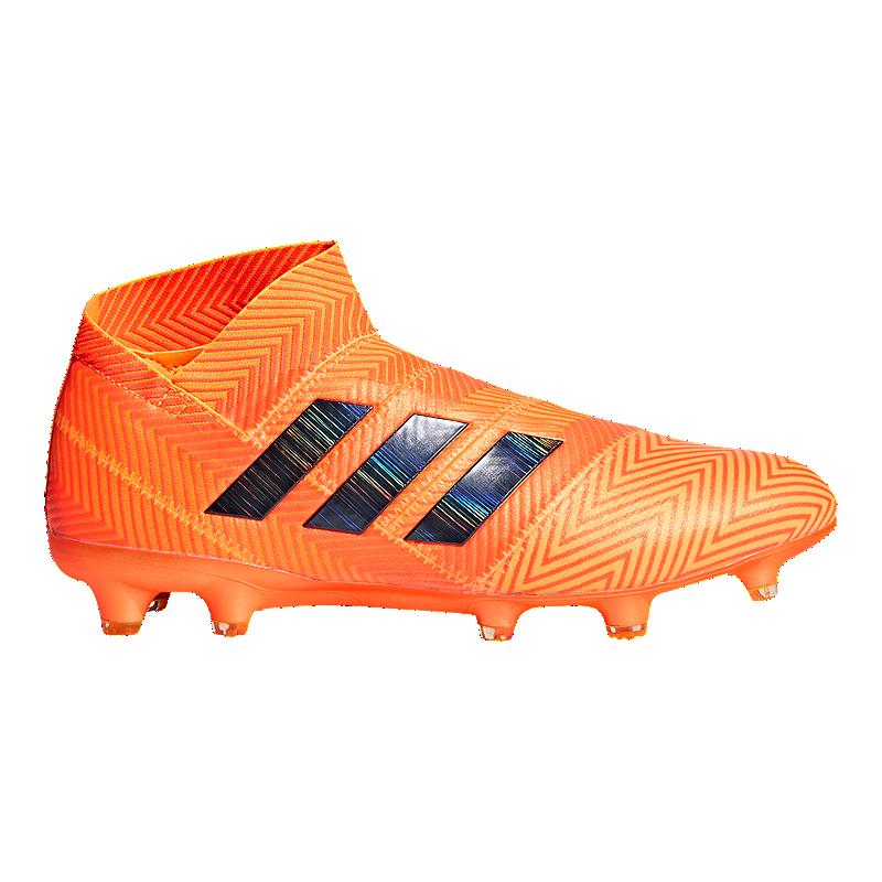 c37e77d4bd5 adidas Men s Nemeziz 18+ FG Outdoor Soccer Cleats - Orange Black ...