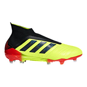 adidas Men's Predator 18+ FG Outdoor Soccer Cleats - Yellow/Black/Orange