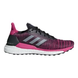 adidas Women's Solar Glide Running Shoes - Carbon/Grey/Real Magenta