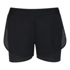 adidas Girls' 2 In 1 Run Shorts