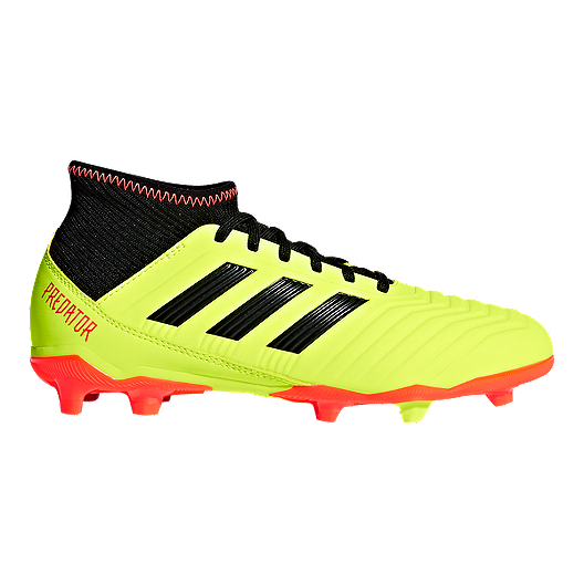 98dc90357 adidas Kids' Predator 18.3 Firm Ground Outdoor Soccer Cleats - Solar  Yellow/Core Black/Solar Red | Sport Chek