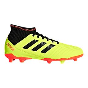 aab0f75e4 adidas Kids  Predator 18.3 Firm Ground Outdoor Soccer Cleats - Solar  Yellow Core Black