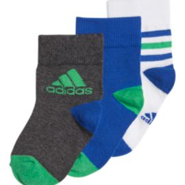 adidas Boys' Ankle Stripe Socks - 3-Pack