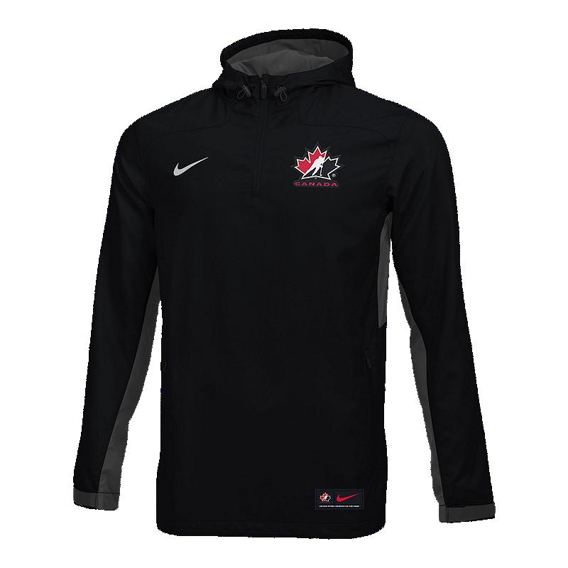 0ee16b6cb555 Team Canada Nike Men s Woven Quarter Zip Jacket