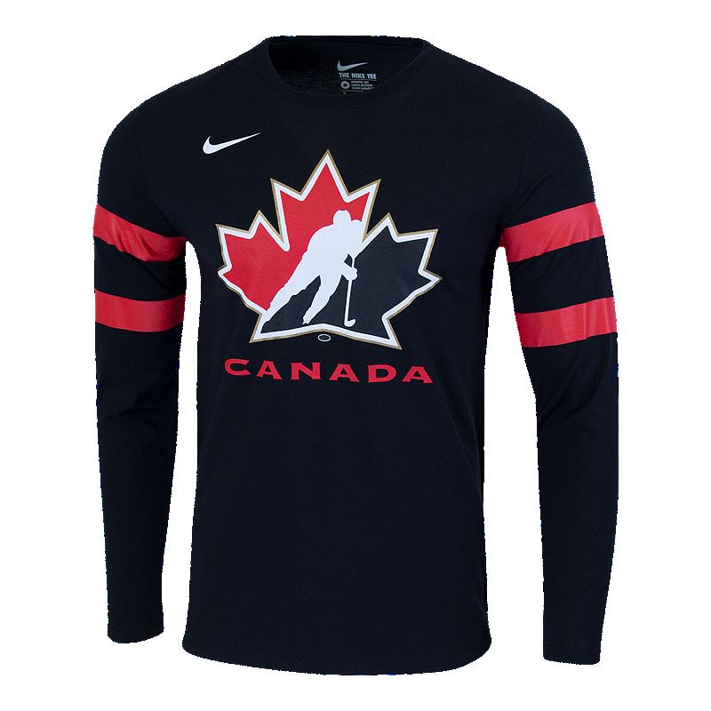 13c953b3913b Team Canada Nike Men s Jersey Replica Long Sleeve Tee